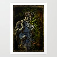 pagan Art Prints featuring Pagan Pan by Chris Lord