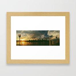 cincinnati sunset skyline Framed Art Print