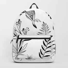 Floral Library Backpack