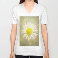daisy V-neck T-shirts featuring Daisy by Pauline Fowler ( Polly470 )