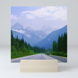 Famous Ice Highway Through Canadian Rockies Snowy Mountains Mini Art Print
