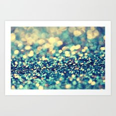 Blue and Silver - an abstract photograph Art Print