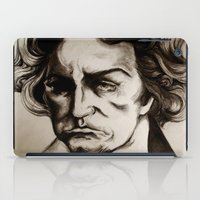 beethoven iPad Cases featuring Ludwig van Beethoven by Lord Marshall