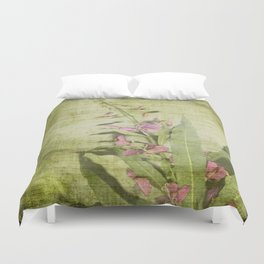Decorative Green Floral Duvet Cover
