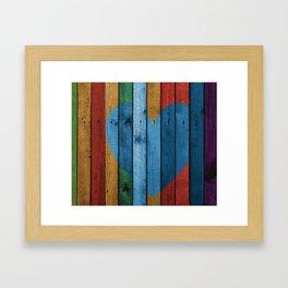 HEART Pop Art Framed Art Print