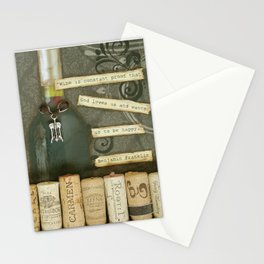 Wine is a Gift Stationery Cards