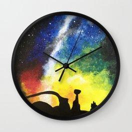 Desert Galaxy Wall Clock