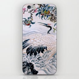 Flowers and Bird iPhone Skin