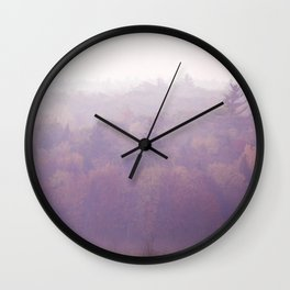 As The Mists Rise Wall Clock