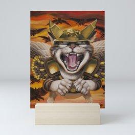 Hawk cats, DIVE! Mini Art Print