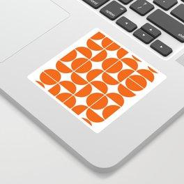 Mid Century Modern Geometric 04 Orange Sticker