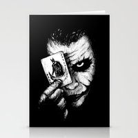 joker Stationery Cards featuring Joker by NickHarriganArtwork