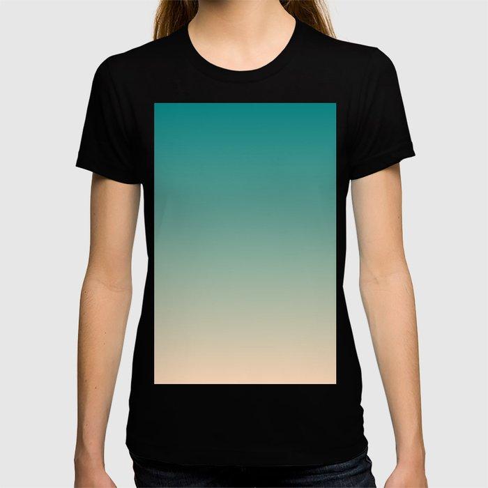 Teal and Angelskin Coral Tropical Paradise Island Hawaiian Beach T-shirt