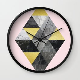 Fasion and golden lozenges Wall Clock