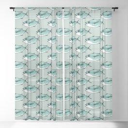 Shoal of bluefin tuna Sheer Curtain