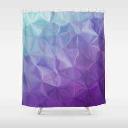 Abstract painting color texture Shower Curtain