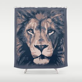 Face to Lion Shower Curtain