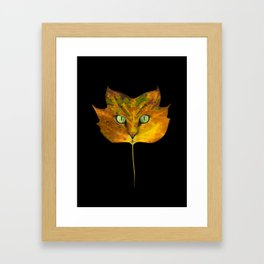 Autumn Cat-5 Framed Art Print