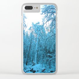 Snow and Shapes Clear iPhone Case