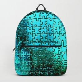 Blue puzzle design Backpack