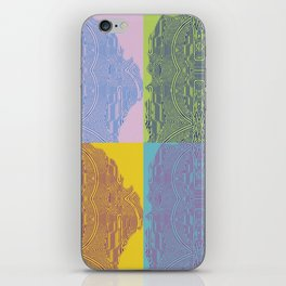 Pop Art Fingerprint Maze Abstract iPhone Skin