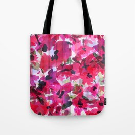 Red Poppy Plaid Tote Bag