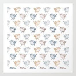 Little wrens Art Print
