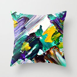 Green Intersections Throw Pillow
