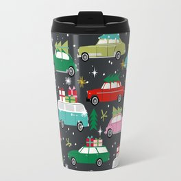 Christmas pattern print vintage cars holiday gifts presents christmas trees cute decor Travel Mug