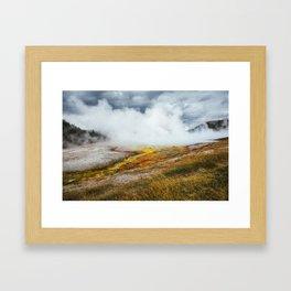 Geothermal Yellowstone Framed Art Print