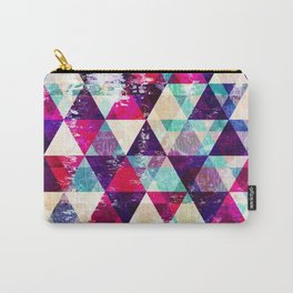 """Retro Geometrical Abstract Design """"Josephine"""" inspired Carry-All Pouch"""