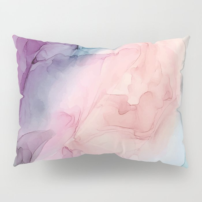 Dark and Pastel Ethereal- Original Fluid Art Painting Pillow Sham
