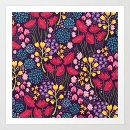 Spring blooms - dusk Art Print