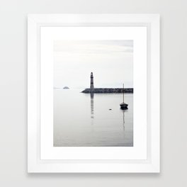 light house in bodrum Framed Art Print