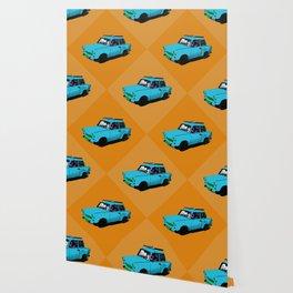 Trabant blue pop Wallpaper