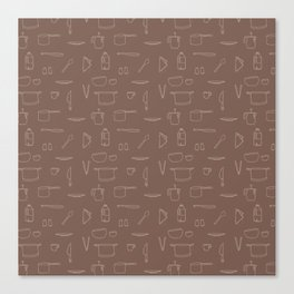 Saturday Morning Kitchen - Coffee Color Canvas Print