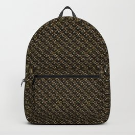 Dark Gold Chainmail Pattern Backpack