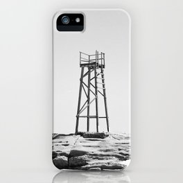 Redhead Beach Shark Tower iPhone Case