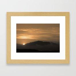 dull evening Framed Art Print
