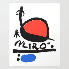 Joan Miró - L oiseau Solaire 1983 - Artwork for Prints Posters Tshirts Bags Women Men Kids Art Print