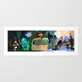 A Christmas Carol Fountale Art Print