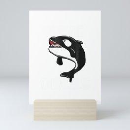 Save Orcas T Shirt - Killer Whale - Sea Panda T-Shirt Mini Art Print