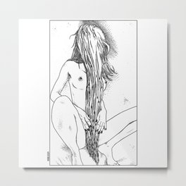 asc 465 - Le rideau de pudeur (The modesty curtain) Metal Print