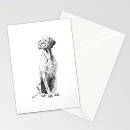 Sitting Hungarian Vizsla Dog  Stationery Cards
