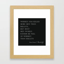 Whiskey & Bullets Framed Art Print