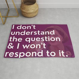 Lucille Bluth - I don't understand the question Rug