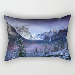 Yosemite in Winter Rectangular Pillow