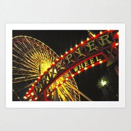 Ferris Wheel at Navy Pier Art Print