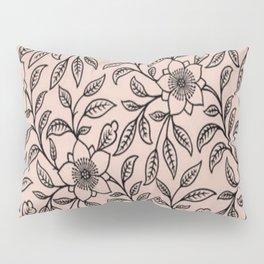 Vintage Lace Floral Pale Dogwood Pillow Sham