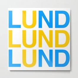 LUND Metal Print
